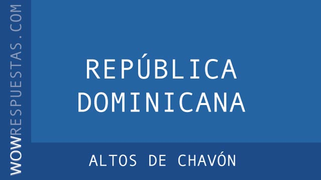 WOW Altos de Chavón